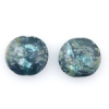 Lamp Bead Coin Large 2Pc 25.5x2.5mm Midnight Moss/teal